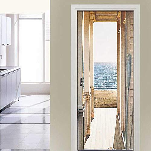 3DWallflexi - PVC Foto Pegatina Puerta Pegatina Decorativo Vinilo Puerta Pared Cocina baño - Arquitectura Urbana - 95x215cm(37.4x84.6)