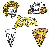 Cráneo De La Cara De Pizza Aleación Pins Colección del Corazón Broche del Pin De La Solapa La Insignia De Metal...
