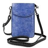 XCNGG Telefontasche Bule Art Watercolor Cell Phone Purse Crossbody Bag Pouch Shoulder Bags Wallet For Women Girls Travel Wedding