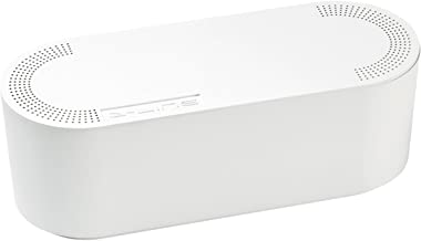 D-Line Kabelbox EU/CTUSMLW/SW, Kabelmanagement-Box zum Kabel verstecken bei Kabelsalat – Klein, Weiß