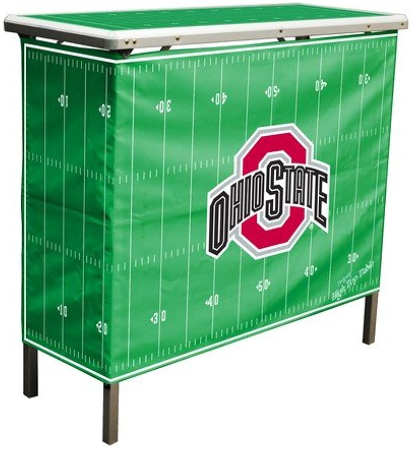 Wild Sports HIGHTCOSU NCAA Ohio State Buckeyes Aluminum High Top Folding Tailgate Table with Carrying Case