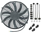 "American Volt Single 14"" Inch Electric Fan 12v Automotive Radiator Cooling 90w Motor"