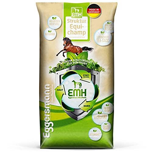Eggersmann EMH Structure Equichamp Croquettes pour Chevaux - céréales avec Structure et levure Vivante Yea-Sac - Sac de 20 kg