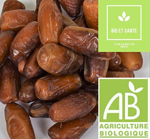 Dattes Deglet Nour Bio De Qualité Extra, 1 Kg, Fruit Sec Energétique Pour Votre Apport En Vitamines et Minéraux Contribueront aux Bienfaits et à la Santé de Votre Organisme