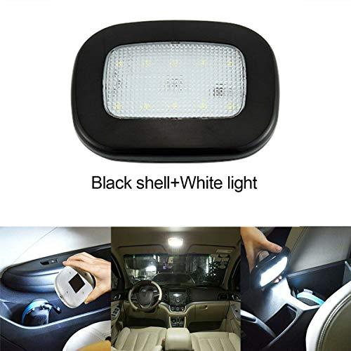 Maso - Lámpara de techo para interior de coche, 10 LED, 12 V, USB, luces de lectura recargables para remolque/furgoneta/yate/barco/caravana (negro y blanco)