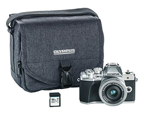 Olympus OM-D E-M10 Mark III Camera Kit with 14-42mm EZ Lens (Silver), Camera Bag & Memory Card, Wi-Fi Enabled, 4K Video, US Only