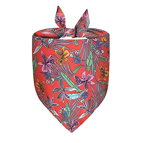 PetPhindU Pañuelo para Perros Estilo De Hawaii Triángulo del Perro Casero Babero Baberos De Playa del Verano De La Bufanda Al Aire Libre Perro Babero Babero Pañuelo para El Cuello del Perrito del