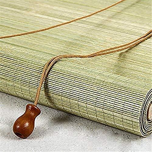RENQIAN bamboe rolgordijnen waterdicht anti-schimmel retro decoratieve bamboe tinten gordijnen voor buiten binnen (Maat: 120x210Cm)