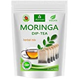 Té de Moringa 100% natural y vegano (opcionalmente Moringa-mezcla de hojas, manzana-canela, granada, jengibre, menta). 1A calidad (20 bolsitas de té Moringa-mezcla de hojas)