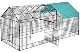 """FDW 86"""" x 40"""" Chicken Coop Chicken Cage Outdoor Metal Pet Enclosure Pet Playpen Exercise Run for Rabbits, Chickens, Cats, Small Animals"""