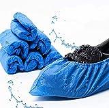 Ezlife Cubrezapatos Desechables Antideslizante, 100 Piezas Impermeables Cubiertas de Plástico CPE, Protector de Zapatos Desechables ExtrafuerteTalla única