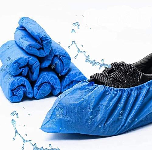 EzLife Cubiertas Zapatos Desechables Antideslizantes, 100 Pcs Impermeables Cubrezapatos Desechables Tamaño Más Grande, Protector Zapatos Desechables ExtrafuerteTalla única- 17 * 40cm