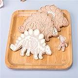 Kuchen Kochzubehör,ALIKEEY 3pcs Dinosaurier Form Keks Ausstecher Fondant Kuchen Dekor Backform WerkzeugGeeignet für Restaurants, Familien