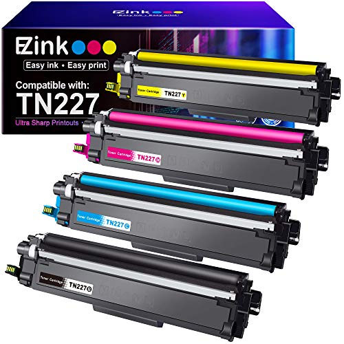 E-Z Ink (TM) High Yield Compatible Toner Cartridge Replacement for Brother TN227 TN227bk TN-227 TN223bk TN223 for MFC-L3750CDW HL-L3210CW HL-L3290CD HL-L3230CDW MFC-L3710CW HL-L3270CDW (4 Pack)