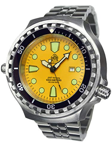 WR 100bar T0314M - Reloj de Buceo (52 mm, Correa de Acero Inoxidable)