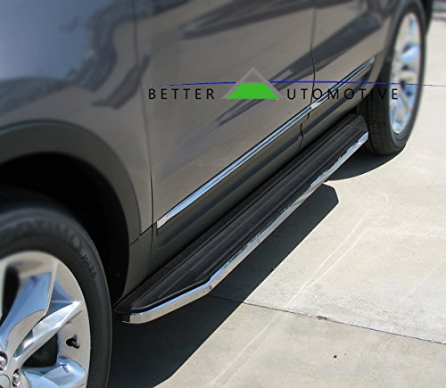 BETTER AUTOMOTIVE Running Boards Fit 2011-2019 Ford Explorer (Drilling Required Pinch Weld) Black Side Step Nerf Bars