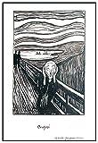 Panorama Gerahmtes Poster Edvard Munch Der Schrei Schwarz
