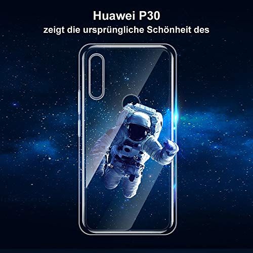 Ylife Hülle Kompatibel Huawei P30 Lite, Ultra Dünn Transparent Weiche Silikon TPU Handyhülle, Anti-Gelb Crystal Clear Silikonhülle, Anti-Scratch Schutzhülle, Durchsichtige Case Cover - Klar - 6