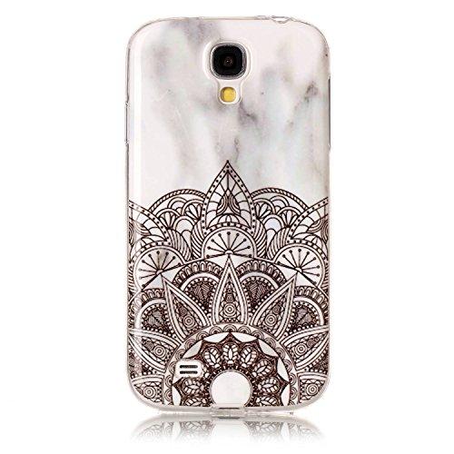 Karomenic Silikon Hülle kompatibel mit Samsung Galaxy S4 Ultra Slim Dünn Schutzhülle Marmor Muster Weiche TPU Handyhülle Stoßfest Kratzfest Stoßfest Bumper Case Cover Tasche Schale,Marmor#7