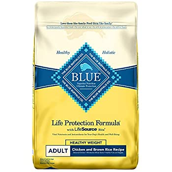 Blue Buffalo Life Protection Formula Natural Adult Healthy Weight Dry Dog Food Chicken and Brown Rice 30-lb