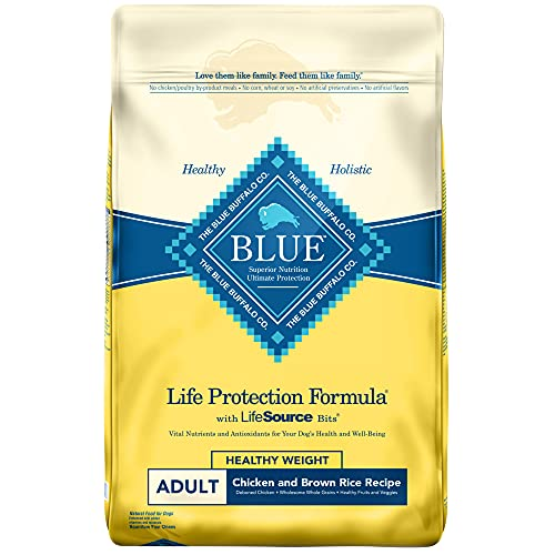 Blue Buffalo Life Protection Formula Healthy Weight Dog Food – Chicken and Brown Rice – 30 lb. Bag