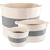 Little Hippo 3-pc Large Cotton Rope Storage Baskets