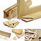 Keilrahmen-Set 50x40cm, Holz Keilrahmenleisten Bausatz zur Selbstmontage, Selbstbau ohne Leinwand,...