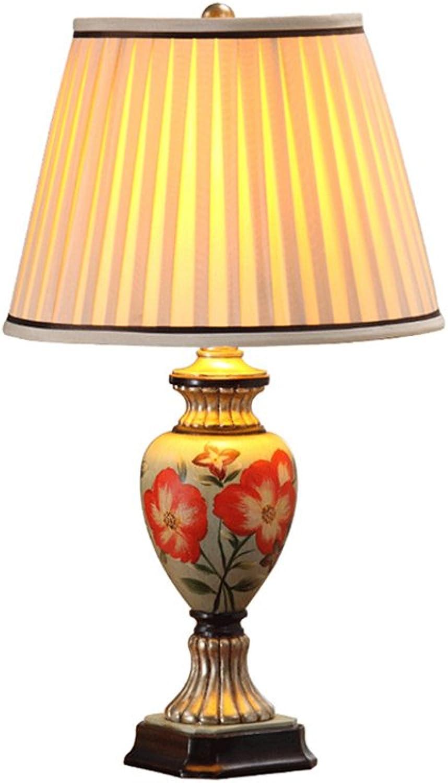 Handgemalte amerikanische amerikanische amerikanische Pastoral-Tabellen-Lampen-Schlafzimmer-Nachttisch-Lampe Europäer - Art Wohnzimmer-Retro- Hochzeits-Tabellen-Lampe ohne Lichtquelle Energie sparen B07JGPJFZR     | Verkauf Online-Shop  a49534