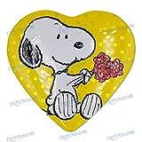 Metallbox Yellow Heart Snoopy Flowers - Schokoladenmilch-Süßwaren - 100 g - Valentinstagspecial