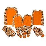 Tuimiyisou 2 Unids Halloween Familia Pijamas Pijamas Mamá Papá Niños Cintura Elástica Cintura Nightwear para 3-4t Bebé