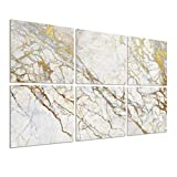 """BUBOS Art Acoustic Panels Soundproof Wall Panels,Sound Absorbing Panels Acoustical Wall Panels,Acoustic Treatment for Recording Studio,Office,Home Studio,12""""x12""""x0.4',Platinum Marble"""