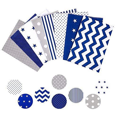 Tela algodon Telas Patchwork 8 piezas 50 x 50 cm - Retales Tela para coser, Telas decorativas Costura y Manualidades por metros