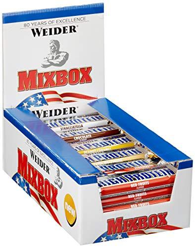 Weider 40% Protein Bar, Offizielle Mix-Box, 1200 g