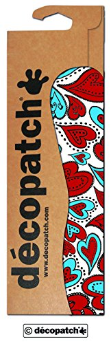 Decopatch Papier No. 567 (rot blau Herzen, 395 x 298 mm) 3er Pack