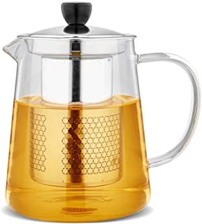 Teapots Glass Tea Set Elegant Cup Thick Heat-resistant Teapot With Filter Teapot Office Tea Ceremony Cup Home Cooking Teapot Tea pot (Capacity : 750ml)