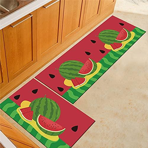 HLXX Alfombrillas geométricas para el Suelo de la Cocina, Alfombra Antideslizante Absorbente de Moda, Alfombra Lavable para baño, Dormitorio, Alfombra Decorativa A8 50x80cm