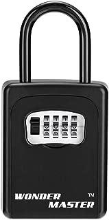 Key Lock Box, Combination Lockbox for Keys, Door Key Storage Box with Code, Portable Key Safe Box for House Key, Spare Key Door Knob Wall Mount Outside Black