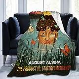 KATHRYN TIMOTHY August Alsina Blanket Microfiber Throw Flannel Blanket Super Soft Warm Fuzzy Cozy Lightweight Blanket for Bed Couch Sofa Car Kid 50'x40'