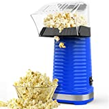 Hot Air Popcorn Machine, Popcorn Maker, 1200W Hot Air Popcorn Popper for Home, BPA-Free, No Oil Needed Healthy Family with Measuring Cup and Removable Cover