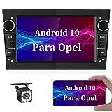CAMECHO Android 10 Radio Coche 7 Pulgadas con Pantalla Táctil GPS para Opel Autoradio Bluetooth Coche con RDS Enlace Espejo/WiFi/FM Estéreo de Coche para Opel Astra Zafira Vectra + Cámara Trasera