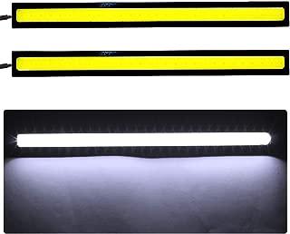 shunyang Car Replacement 17cm COB LED Strip Lights Super Bright DRL Fog Driving Lamp Waterproof 12V White 2 pcs