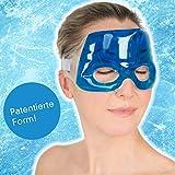 Travelstar Premium Augenmaske für Kälte- & Wärmetherapie bei Migräne & Kopfschmerzen inkl....