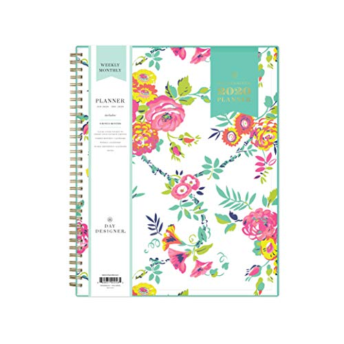 Day Designer for Blue Sky 2020 Weekly & Monthly Planner, Flexible Cover, Twin-Wire Binding, 8.5u0022 x 11u0022, Peyton White