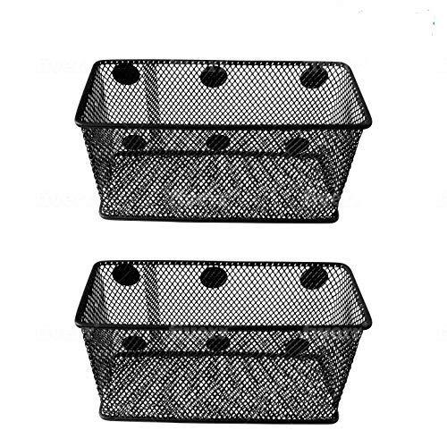 Magnetic Basket Set of 2 by GoSupplyWise - Mesh Organizer and Holder on White Board for Dry Erase Markers or in Locker - Magnet Shelves for Refrigerator - Pen Holder or Desk Storage for Office - Black