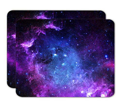AILRINNI Tappetino Mouse Gaming - [2 Packs] Mouse Pad 240x200x3mm, Base in Gomma Tappetino per Mouse da Gioco, Antiscivolo Tappetini Mouse Piccolo per Computer e Laptop (Galaxy+Galaxy)