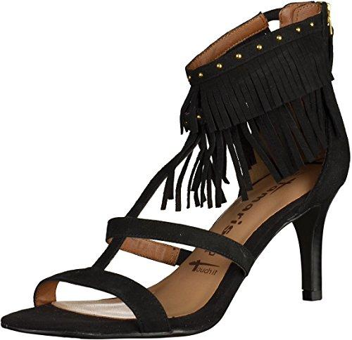 Tamaris Damenschuhe 1-1-28346-26 Damen Sandaletten Sling Sandals Schwarz (Black), EU 38