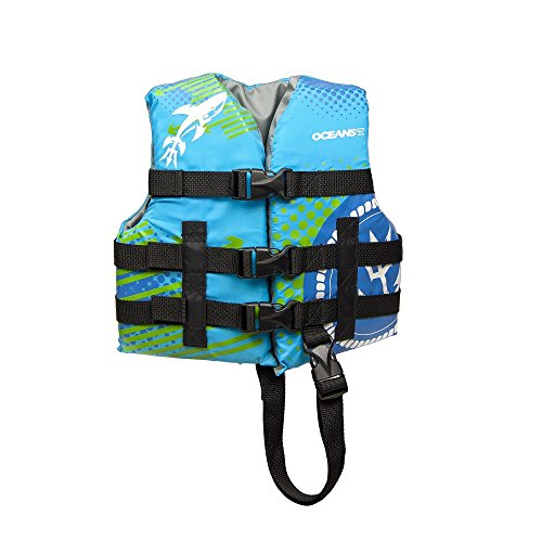 Oceans 7 US Coast Guard Approved, Child Life Jacket, Type III Vest, PFD, Personal Flotation Device, Blue