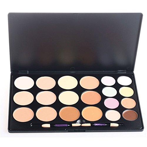 PhantomSky 20 Colores Corrector Camuflaje Paleta de Maquillaje Cosmética Crema Combinación con Cepillo - Perfecto para Uso Profesional y Diario