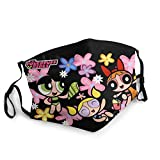 ATSH The Powerpuff Girls Windproof and Dustproof Adult Children Outdoor Sports Face Scarf Headscarf Scarf Sunscreen