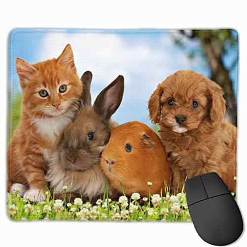 N\A Tappetino per Mouse in Gomma per Tastiera Rettangolare per Cani da Coniglio con Criceto e Cane Antiscivolo per Mouse per casa e Ufficio